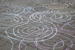 Crazy Chalk Circles Royalty Free Stock Photography