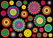 Crazy chaos circles background Royalty Free Stock Photo