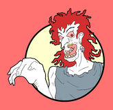 Crazy character illustration Royalty Free Stock Photo