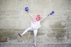 Crazy cheerleader Royalty Free Stock Photo