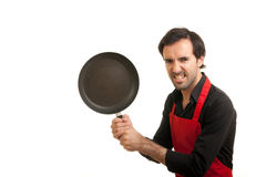 Crazy chef pan Stock Photos