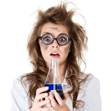 Crazy chemist Royalty Free Stock Photography