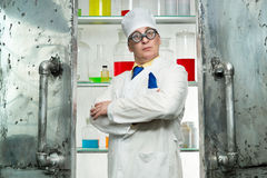 Crazy chemist Stock Photos
