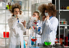 Crazy chemists Royalty Free Stock Images
