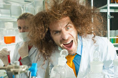 Crazy chemists Royalty Free Stock Photos