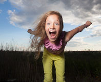 Crazy child Royalty Free Stock Images
