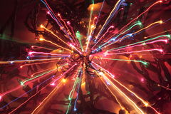 Crazy Christmas Lights. Crazy burst of holiday christmas lights stock photography