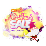 Crazy Christmas Sale Poster, Banner or Flyer. Royalty Free Stock Photos