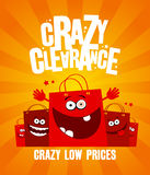 Crazy clearance banner Royalty Free Stock Image