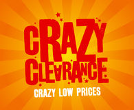Crazy clearance banner Royalty Free Stock Photo
