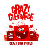 Crazy clearance illustration Stock Image