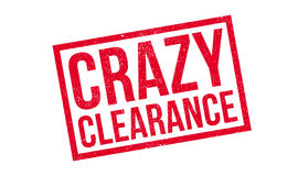 Crazy Clearance rubber stamp Royalty Free Stock Image