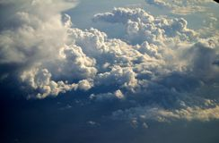 Crazy Clouds. Clouds seen while flying back from Rome Royalty Free Stock Photos