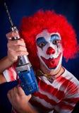 Crazy clown Stock Photography