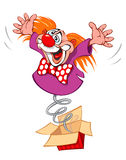 Crazy Clown Royalty Free Stock Images