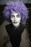Crazy clown royalty free stock photography