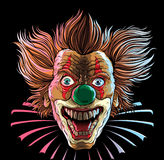 Crazy Clown Head Royalty Free Stock Photo