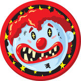 Crazy clown Icon. Icon of a clown face, part of a series Royalty Free Stock Photo
