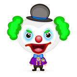 Crazy clown illustration Stock Photos