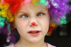 Crazy Clown Kid Royalty Free Stock Images