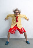 Crazy clown Royalty Free Stock Photos