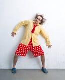 Crazy clown Stock Image