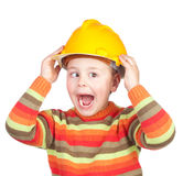 Crazy construction worker Royalty Free Stock Photos