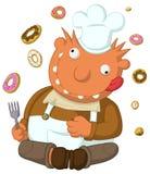 Crazy Cook. Cartoon, vector, horizontal, over white,  isolated Stock Photos