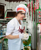 Crazy cook Stock Image