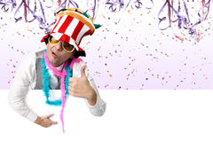 Crazy and cool Carnival Party Stock Photography
