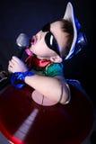 Crazy cool kid DJ Stock Image