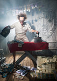 Crazy counterfeiter Royalty Free Stock Images