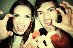 Crazy Couple Royalty Free Stock Image
