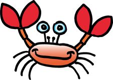 Crazy crab Stock Photography