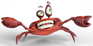 Crazy crab Stock Images