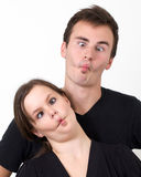 Crazy Cross-eyed Couple Royalty Free Stock Photo