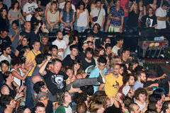 Crazy crowd at Heineken Primavera Sound 2014 Festival Stock Photos