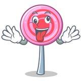 Crazy cute lollipop character cartoon. Vector illustration Royalty Free Stock Photos