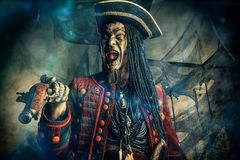 Crazy dead pirate Stock Images