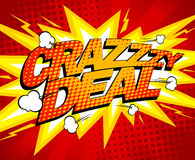 Crazy deal design. Royalty Free Stock Photo