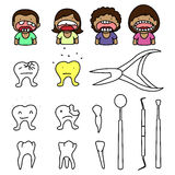 Crazy dentist Royalty Free Stock Images