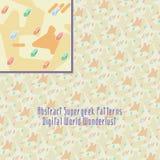 Crazy digital pattern with strange geometry Royalty Free Stock Photo