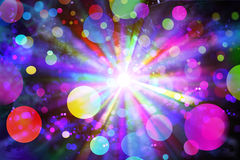 Crazy disco light. Light coulored disco lblurs. Abstract Royalty Free Stock Photography