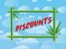 Crazy discounts every summer poster Stock Image