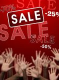 Crazy discounts and sales Stock Photography