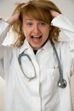 Crazy doctor Royalty Free Stock Photos