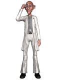 Crazy doctor. 3d render of a crazy doctor Royalty Free Stock Images