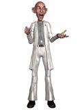 Crazy doctor. 3d render of a crazy doctor Stock Photos