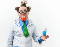 Crazy doctor Stock Photography