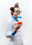 Crazy doctor Stock Image